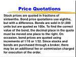 price quotations