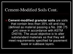 cement modified soils cont