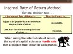 internal rate of return method31