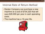 internal rate of return method32