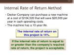 internal rate of return method35
