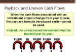 payback and uneven cash flows