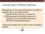 simple rate of return method80