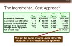the incremental cost approach48