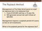 the payback method70