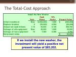 the total cost approach43