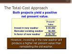 the total cost approach46