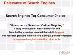 relevance of search engines