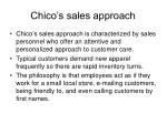 chico s sales approach