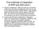 five methods of integration of erp and gis cont