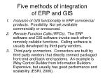 five methods of integration of erp and gis