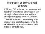 integration of erp and gis software