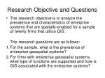 research objective and questions