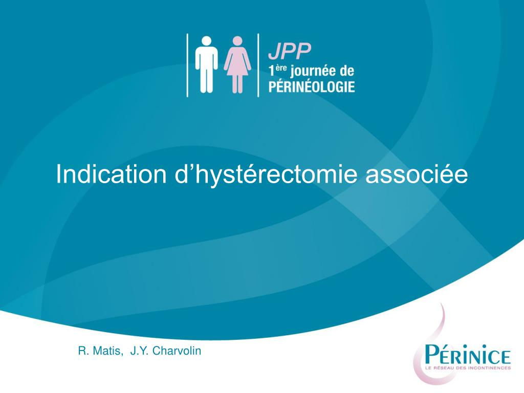 indication d hyst rectomie associ e l.