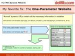 my favorite fix the one parameter website