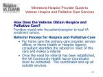 minnesota hospice provider guide to veteran hospice and palliative care services20