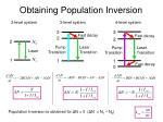 obtaining population inversion