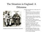 the situation in england a dilemma