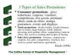 3 types of sales promotions