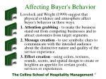 affecting buyer s behavior