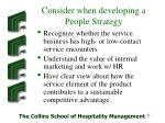consider when developing a people strategy