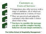 customers as users of services35