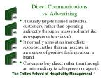 direct communications vs advertising
