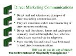 direct marketing communications
