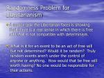 randomness problem for libertarianism