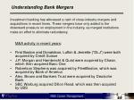 understanding bank mergers