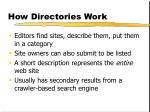 how directories work