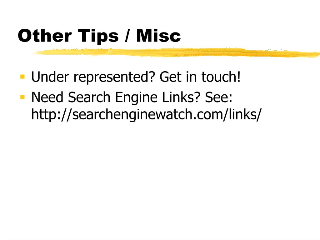 Other Tips / Misc