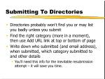 submitting to directories
