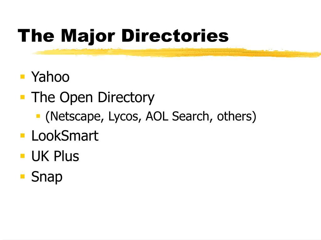 The Major Directories