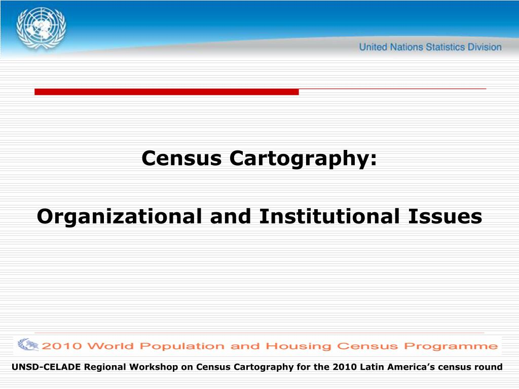 census cartography organizational and institutional issues l.
