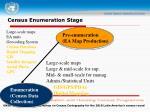 census enumeration stage