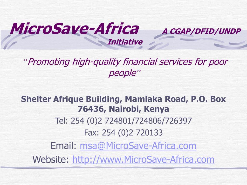 MicroSave-Africa