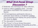 what is a focus group discussion