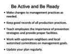 be active and be ready