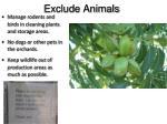 exclude animals