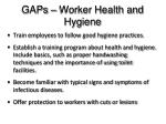 gaps worker health and hygiene