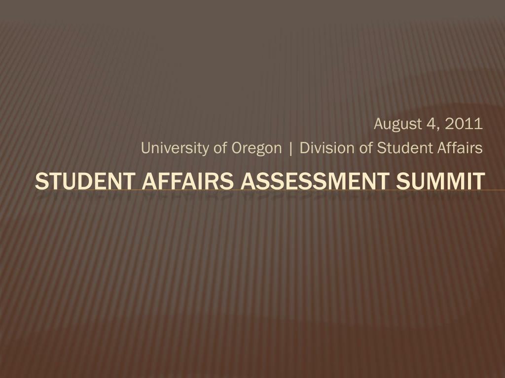 student affairs assessment summit l.