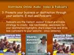 distribute online audio video podcasts
