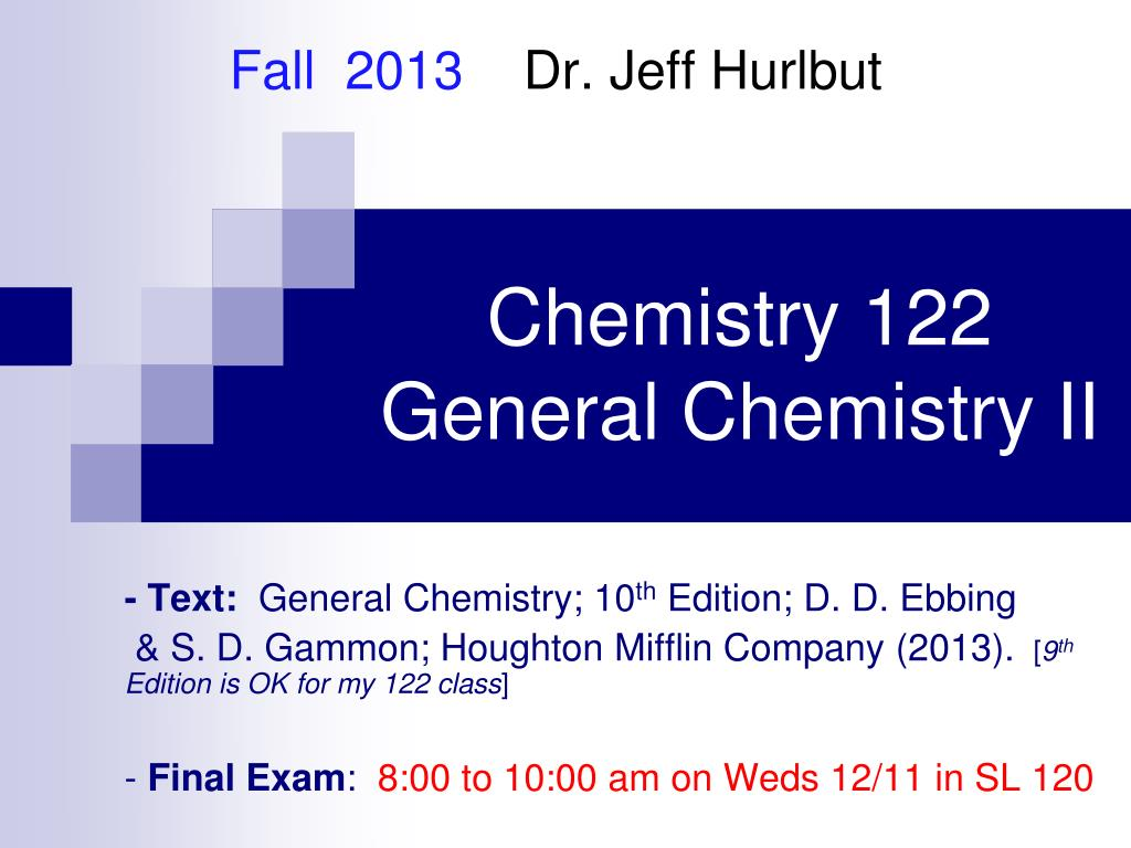 chemistry 122 general chemistry ii l.