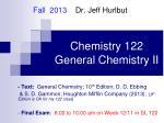 chemistry 122 general chemistry ii