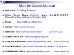 sites for course material