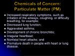 chemicals of concern particulate matter pm