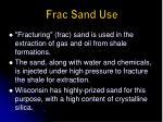 frac sand use