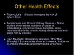 other health effects