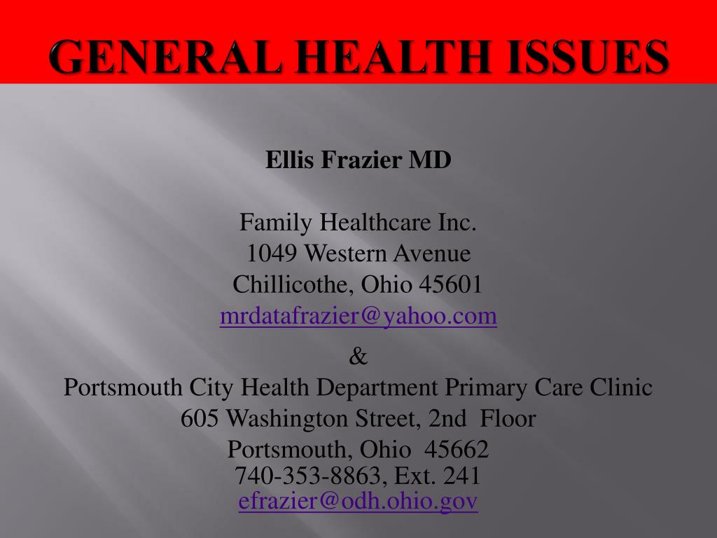 general health issues l.